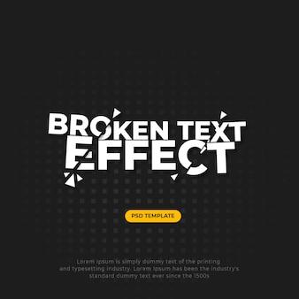 Gebroken gebarsten tekst-effect
