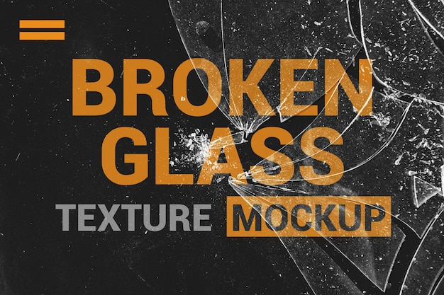 Gebroken glas textuur mockup