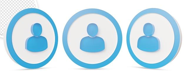 Gebruikerspictogram in 3d-rendering ontwerp