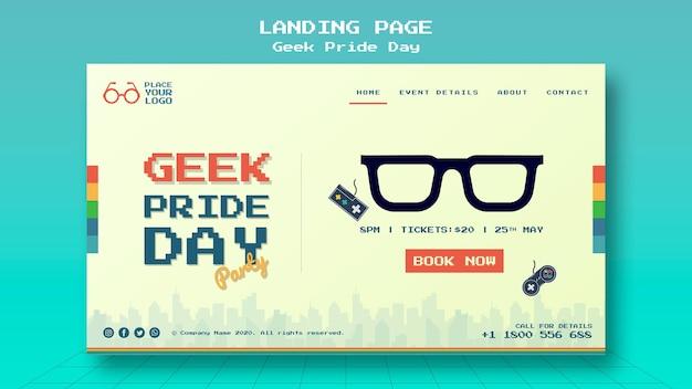 Geek pride-dag bestemmingspagina sjabloon