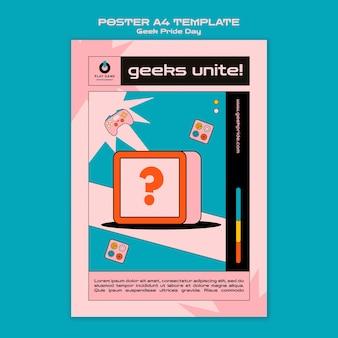 Geek pride-dag poster sjabloon