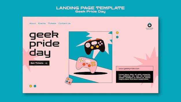 Geek pride-dag websjabloon