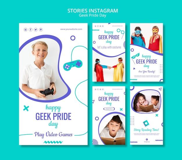 Geek pride day instagram-verhalen