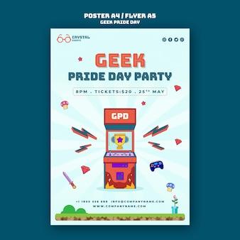 Geek pride day poster sjabloon