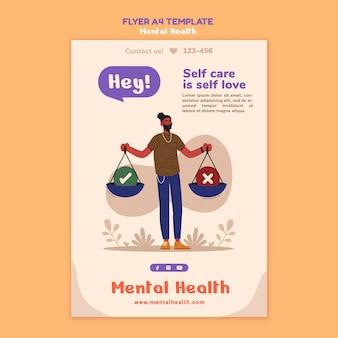 Geestelijke gezondheid folder sjabloon