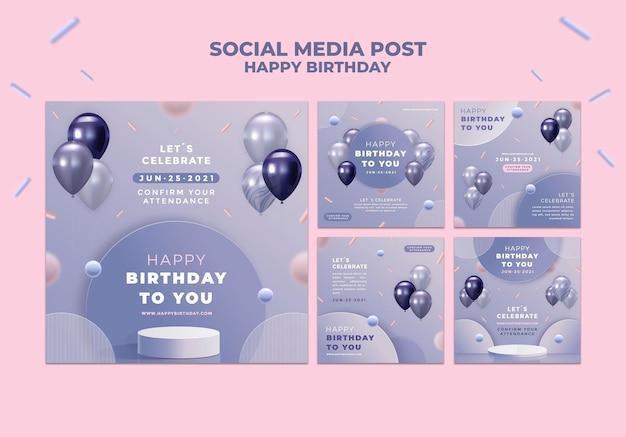 Gefeliciteerd met je verjaardag social media bericht