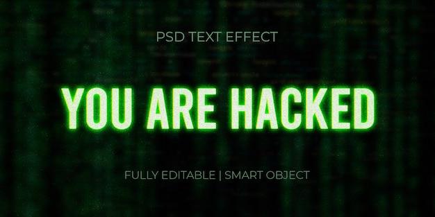 Gehackte 3d tekst neon effect