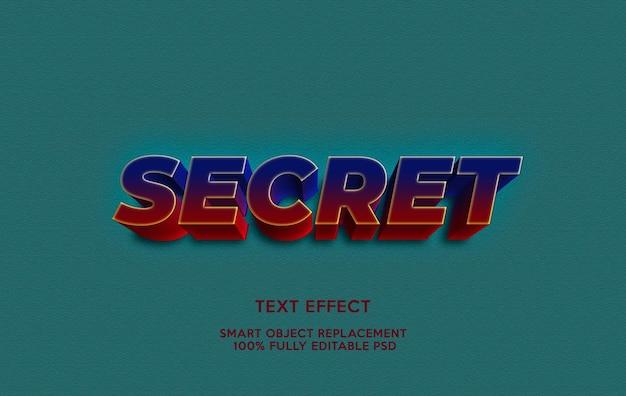 Geheime teksteffectsjabloon