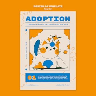 Geïllustreerde afdruksjabloon voor huisdieren