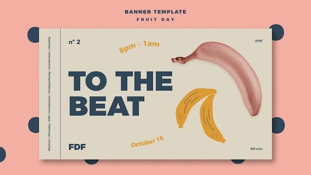 Geïllustreerde fruit dag banner