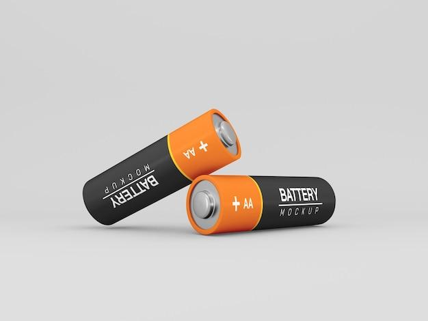 Geïsoleerd aa batterijmodel