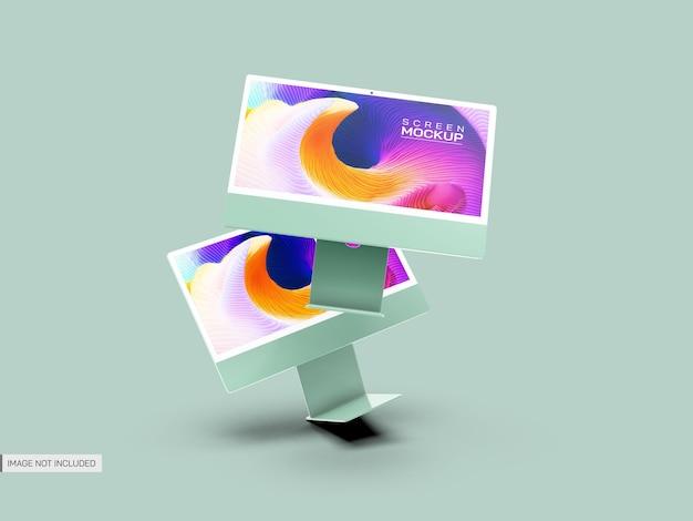 Geïsoleerd bureaubladschermmodel