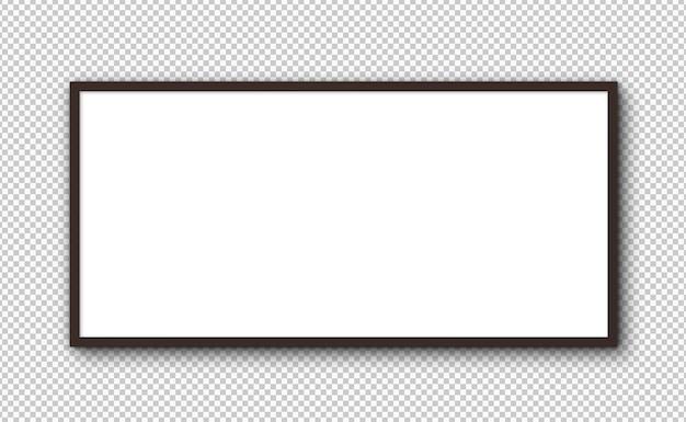 Geïsoleerd groot horizontaal frame