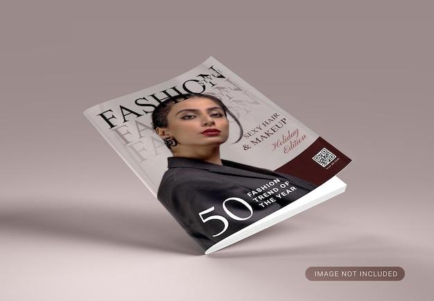 Geïsoleerd mockupontwerp voor tijdschriftomslag