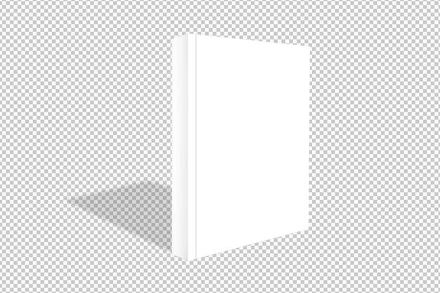 Geïsoleerd wit boek met schaduw