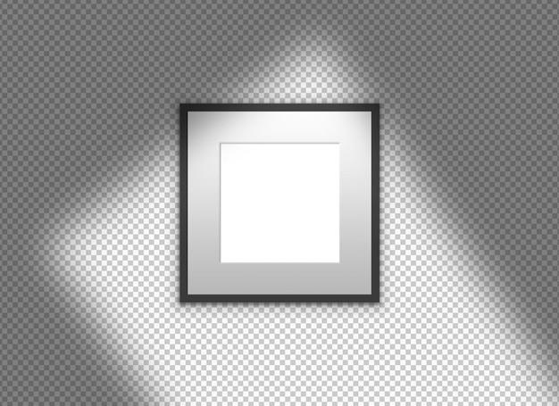 Geïsoleerd zwart frame met schaduw