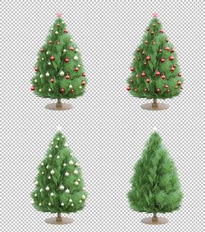 Geïsoleerde 3ds kerstboom