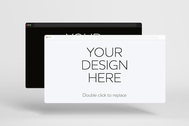 Geïsoleerde apparaten mockup 3d-rendering