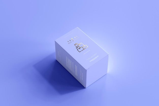 Geïsoleerde box mockup