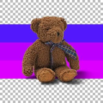 Geïsoleerde bruine teddybeer