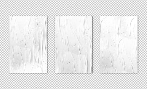 Geïsoleerde drie witte posters