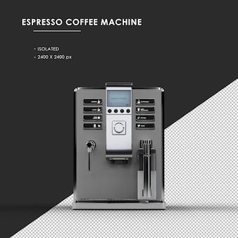 Geïsoleerde espesso-koffiemachine van vooraanzicht