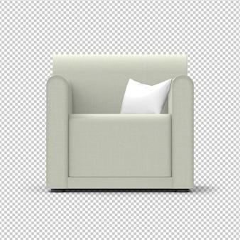 Geïsoleerde fauteuil. stof, crème kleur
