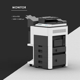 Geïsoleerde fotokopieerapparaatmachine van linksvooraanzicht