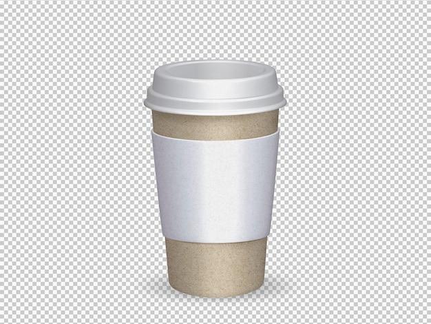 Geïsoleerde papieren beker voor koffie