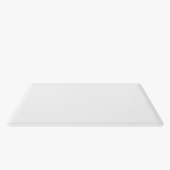 Geïsoleerde rechthoek tapijt vorm