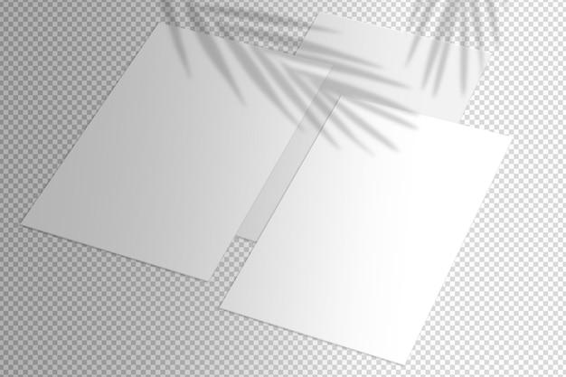 Geïsoleerde set witte lakens