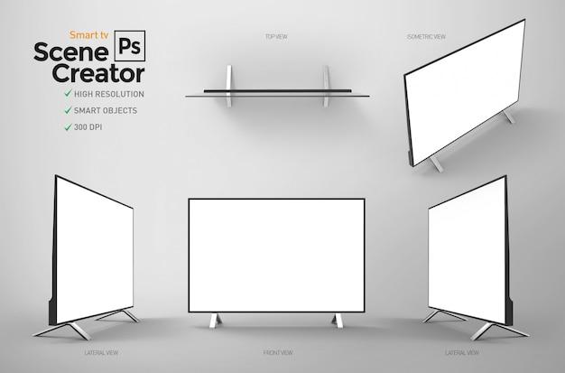 Geïsoleerde smart tv. monitor voor thuis- of kantoorentertainment.