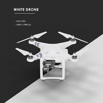 Geïsoleerde witte drone van linker bovenaanzicht