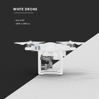 Geïsoleerde witte drone van links uitzicht