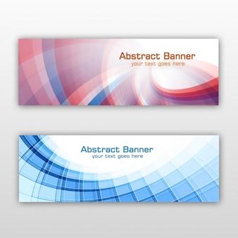 Gekleurde geplaatste banners