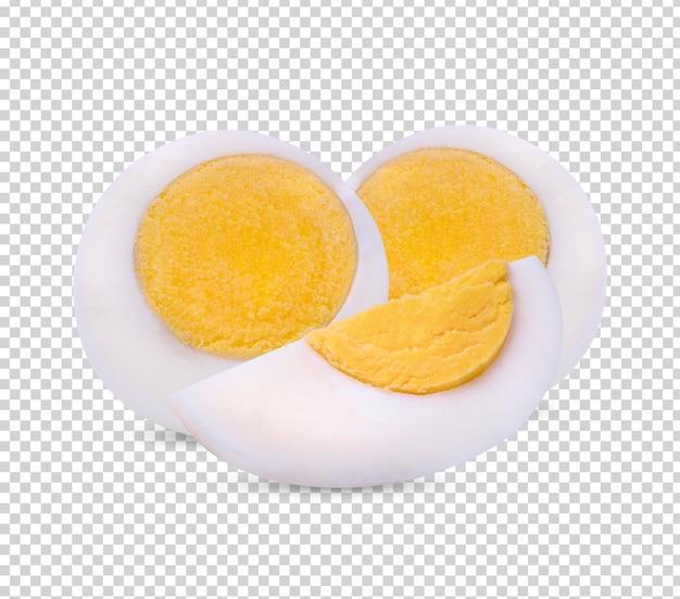 Gekookt ei dat op wit geïsoleerd knipsel wordt geïsoleerd als achtergrond premium psd.