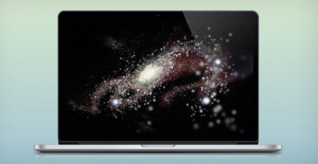 Gelaagde retina macbook pro psd