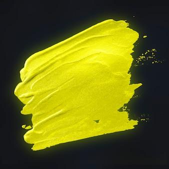 Gele penseelstreek achtergrond