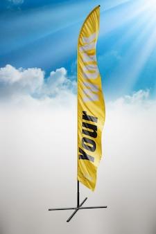 Gele vlag mock up