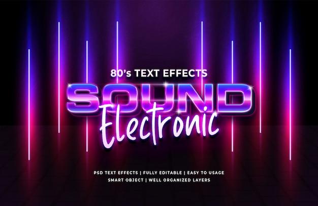 Geluid elektronisch jaren 80 retro tekst effect