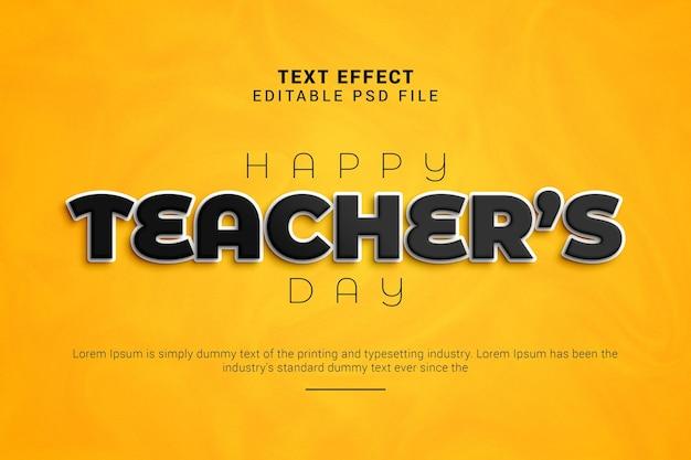 Gelukkig bewerkbaar teksteffect voor lerarendag
