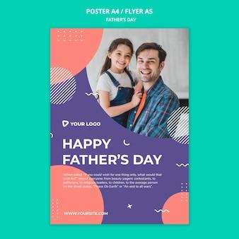 Gelukkig de affichemodel van het vaderdagconcept