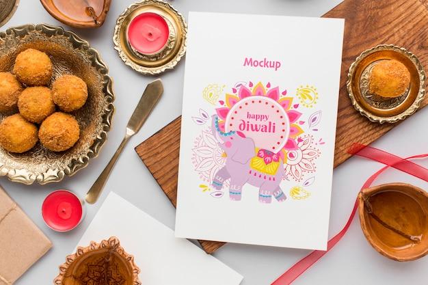 Gelukkig diwali festival mock-up