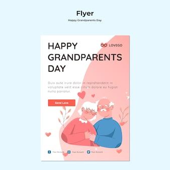 Gelukkig grootouders dag flyer-sjabloon