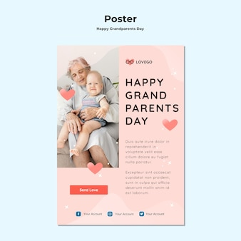 Gelukkig grootouders dag posterontwerp