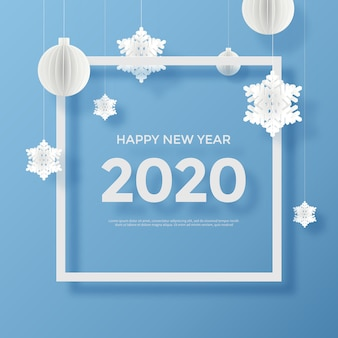 Gelukkig nieuwjaar 2020-wenskaart