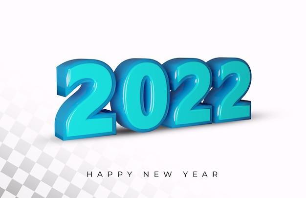 Gelukkig nieuwjaar 2022 3d-teksteffect