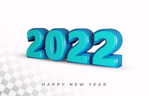 Gelukkig nieuwjaar 2022 3d-teksteffect Premium Psd
