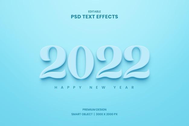 Gelukkig nieuwjaar 2022 teksteffect