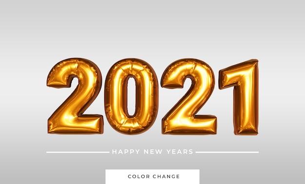 Gelukkig nieuwjaar ballon in 3d-rendering
